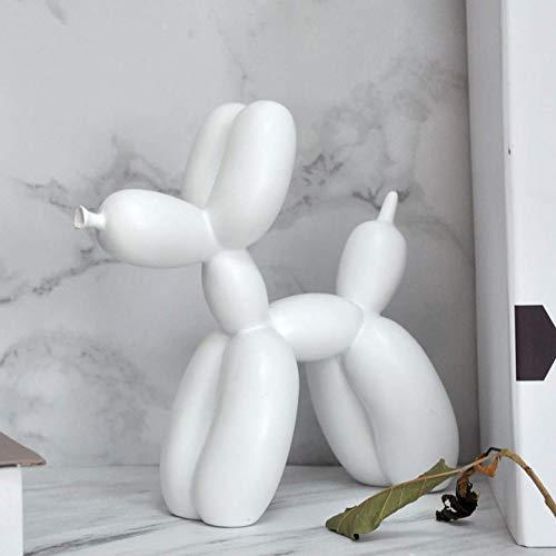 9x4x9inch YB/&GQ Chien Et Caca Brillants De Ballon Figurines,Jeff Koons Art Sculpture Fait /à La Main Chiot Statues Cr/éatif Cadeau Moderne D/écoration Office Ornements Rose 23x9.5x22cm