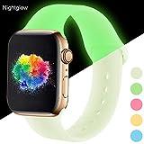 youmaofa Kompatibel für Apple Watch Armband 38mm 40mm, Wasserdicht Silikon Sport Ersatz Armband...