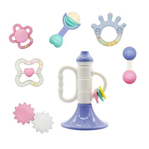 NUOBESTY bébé jouets hochets ensemble nourrisson saisir saisir jouets spin secouant cloche jouet musical ensemble pour bébé nouveau-né bébé