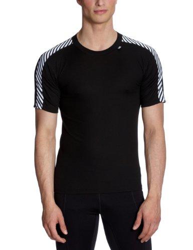 Helly Hansen HH Dry Stripe T T-Shirt Manches Courtes Technique Homme, Noir, FR : XXS (Taille Fabricant : 2XS)