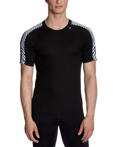 Helly Hansen Base Layer Lifa Men's Outdoor Dry Stripe T-Shirt available in Black/998 Black 2X-Small