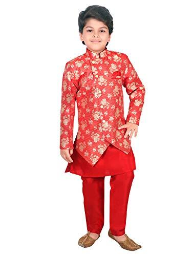 AHHAAAA Ethnic Wear Sherwani Kurta and Pyjama Set for Kids and Boys...