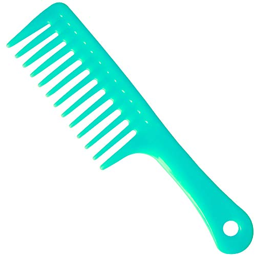 Wide Tooth Comb hair comb Detangling Hair BrushPaddle Hair CombCare Handgrip CombBest Styling Comb cblue