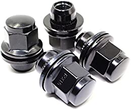 Set of 24 12x1.5 Veritek Mag OEM Factory Washer Style Black Lug Nuts for Toyota Tacoma 4 Runner SR5 Pre-Runner TRD Off-Road Limited OEM Replacement