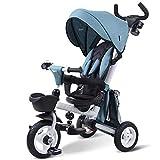 ZJHCC Triciclo para niños, Bicicleta Plegable, Adecuado para bebés de 1 a 3...