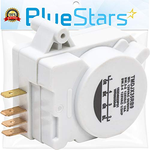 Ultra Durable WR9X483 Refrigerator Defrost Timer DIRECT Replacement for OEM Part by Blue Stars – Exact Fit For GE & Kenmore Refrigerators – Replaces WR09X10130 WR9M418 WR9X10075 PS310852