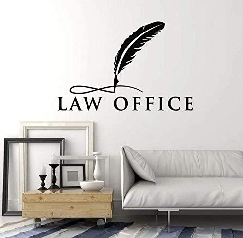 Veer tatoeages muurtattoos woorden kantoren advocatering legging, rechtshandigen, interieurdecoratie, vinyl, kunst, 57 x 37 cm