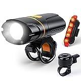 1200 Lumen Bike Lights, USB Rechargeable Bicycle...