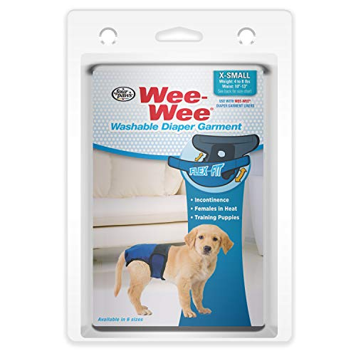 Four Paws Wee-Wee Washable Dog Diaper Garment X-Small