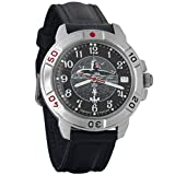 Vostok Komandirskie Military Russian Watch U-boot Submarine Black 2414/431831