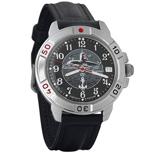 Vostok Komandirskie 2414 431831 Russische Militärische U-Boot-Uhr