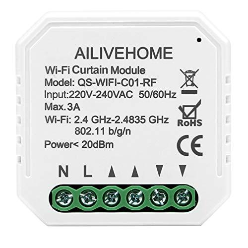 BeauFlw WIFI Smart Rolladen Jalousie Zeitschaltuhr Schalter Rolladenzeitschaltuhr Timer für Rolladenmotor Kompatibel mit Google Home und Alexa Echo (Rolladen Module)