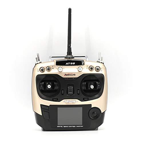 Gogh uitgerust met R9DS ontvanger 2.4G10 kanalen DSSS, FHSS Hybrid Dual Spreizspectrum-RC-zender, uitbreidbaar starre vleugelschip model met meerdere rotors, goudlefthandthrottle