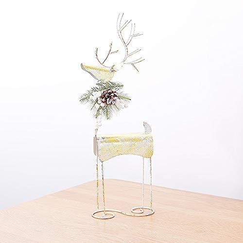 Christmas Decorations Iron Elk Deer Scene Layout Desk Mini Christmas Tree Ornaments (Size : C)