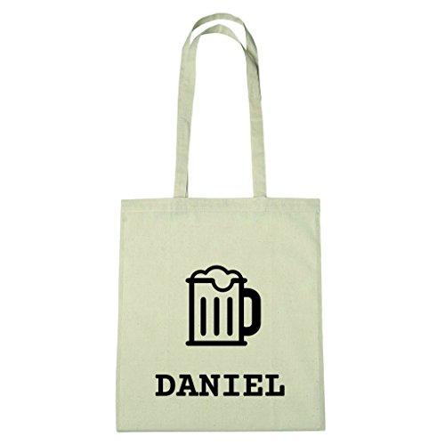 JOllify Baumwolltasche - Happy Birthday für DANIEL - Bier Gruß
