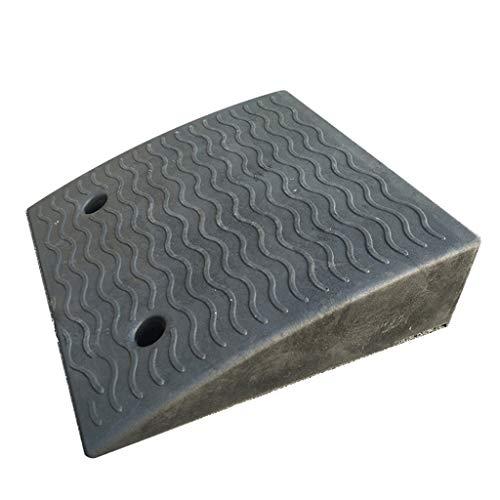 Oprijplaten voor auto's, oprijplaten voor kinderwagens Garage Entree Hulpklemmen/Kan worden gebruikt in dokken, stations en andere parkeerplaatsen voor buitengebruik 50*50*15cm Zwart