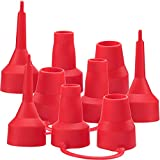 3 Set Replacement Nozzles, Plastic Pump Nozzles, 3 Size for Air Bed, Air Pump Nozzles for Inflatables, Air Mattress, Red
