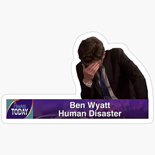 Vinyl Sticker for Cars, Trucks, Water Bottle, Fridge, Laptops Ben Wyatt - Human Disaster Stickers (3 Pcs/Pack)