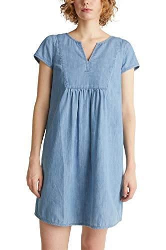 Esprit 030EE1E301 Kleid, Damen, Blau L