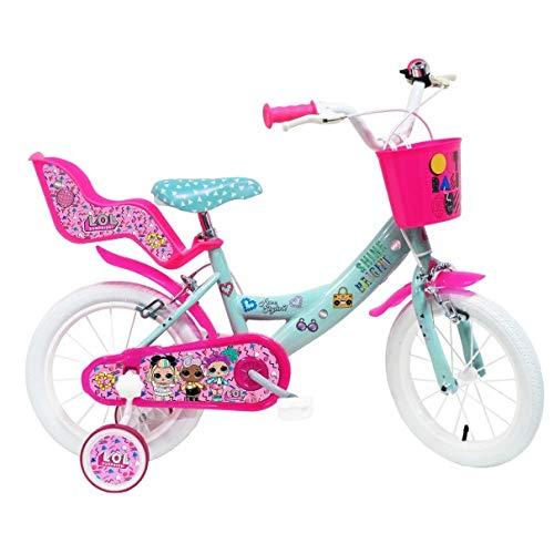 Disney - Vélo Enfant Fille LOL - 14 Pouces (3/5 Ans) - Coloris Rose - (Distributeur Officiel)