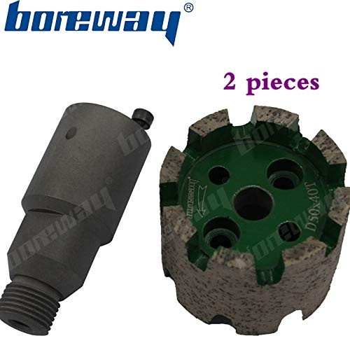 Lowest Price! Xucus Boreway Supply A Lot (2 Pieces) of D50x40Tx10H Continuous Diamut Heavy Duty Stub...