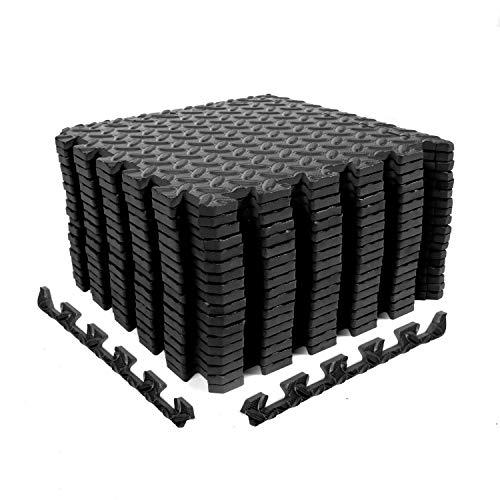 CCLIFE Esterilla Puzzle de Fitness 60x60x1cm 30x30x1cm Suelo de Gimnasio de Goma Espuma EVA, Color:DSZMT002A18ERswz