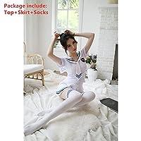 WUYUESUN ハロウィン女性コスプレセクシーミニスカ制服セーラー服日本の韓国語バージョンの女の子Jkのかわいい学生学校コスチューム (Color : Color2, Size : S)