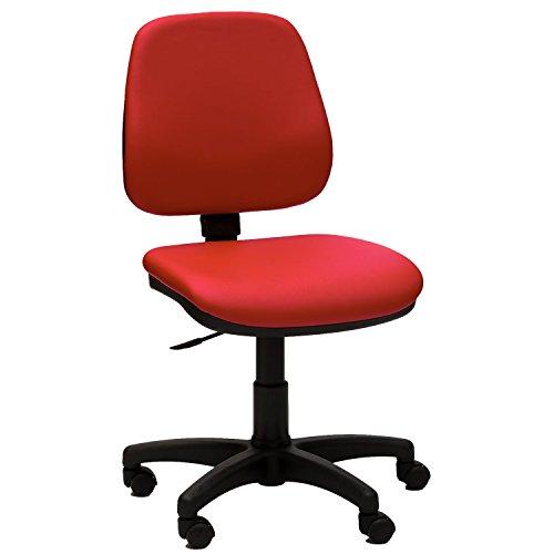La ameublement et Alfa Soft Chaise pivotante, Cuir synthétique/Fibre de Nylon, Rouge, 65 x 65 x 102 cm
