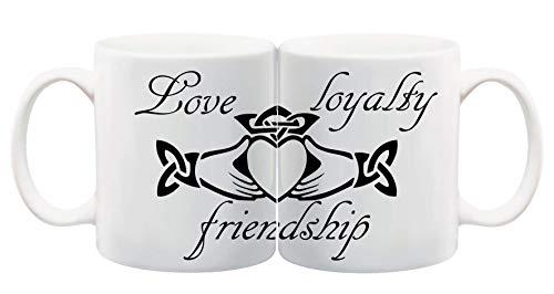 Bedruckte Tasse Claddagh Ring Liebe Irland