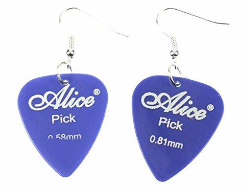 Plectro plectro pendientes Miniblings remolque de la guitarra guitarra eléctrica azul correa
