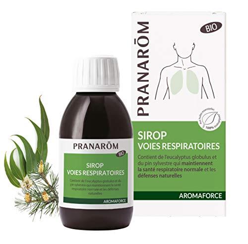 Pranarôm Sirop Voies Respiratoires eucalyptus globulus et pin sylvestre santé respiratoire et défenses naturelles 150 ml