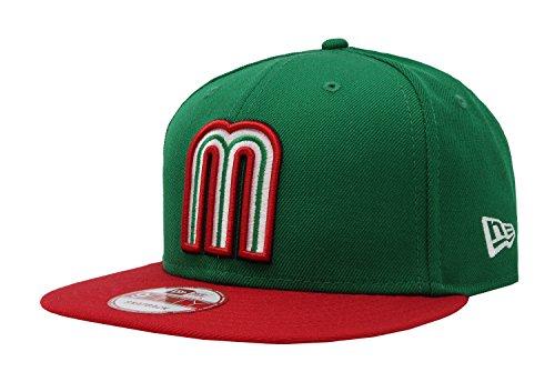 New Era 9FIFTY Snapback Mexiko WBC-Hat Cap One Size passend für die meisten Herren (grün/rot, 1)