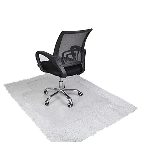 90 x 120 x 0.2cm PVC Home-use Protective Mat for Floor Chair Transparent,Best Choice Chair Mats for Carpeted Floors, Attractive Mats for Desks, Chairs, Classic and Transparent for Protecting Floor