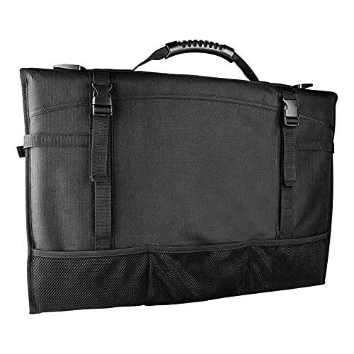 Aznever Reisetasche Kompatibel mit 20-24 Zoll Desktop-Computermonitor Wasserdichtes Nylon Schwarz Computerhülle mit Zubehöraufbewahrungstaschen Tragbare Tragetasche mit Griff