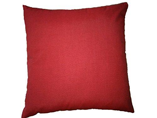 LI.G. Cuscino ARREDO Imbottito 60X60 Vari Colori (Rosso)