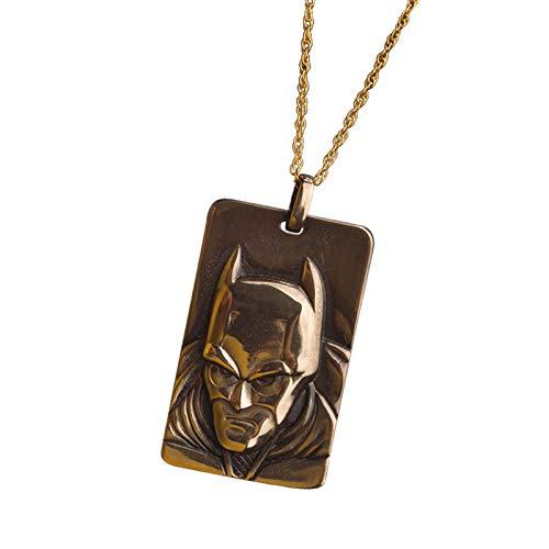 Elbenwald Batman The Dark Knight - remorques de Secours en Bronze, y Compris la chaîne, Noble DC Fan Bijoux