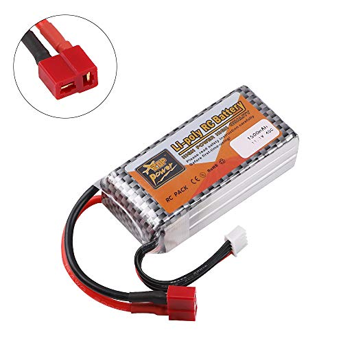 ZOP Power 1500mAh 11.1V Batteria 40C T Plug for RC Car Airplane Helicopter Drone