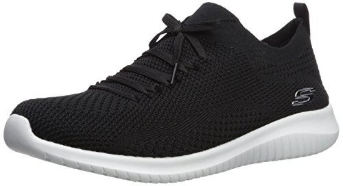 Skechers Ultra Flex Statements, Zapatillas sin Cordones para Mujer, Negro (Black/White BKW), 39 EU