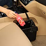 KMMOTORS Jopps Foldable Car Garbage Can Patented Car Wastebasket Comfortable Multifuntional Artificial Leather and Oxford Clothes Car Organizer Enough Storage for Garbage