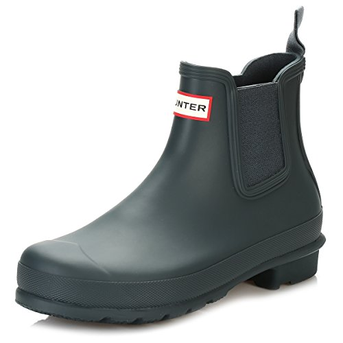 Hunter Hombre Original Dark Sole Chelsea Boots, Negro, 44