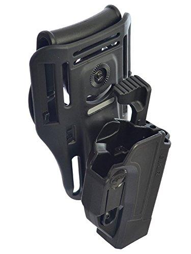 orpaz defensa Lowride cinturón + táctica thmub liberación seguridad Holster, Tention ajuste roto Paddle para todos 1911 con/sin riel Picatinny Rail – Colt, Sig, Kimber, S & W, Taurus, Ruger y más