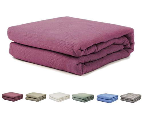 homelux beddings Homelux 100% Cotton Thermal Hospital/Home Twin Size Blanket - Raspberry Color