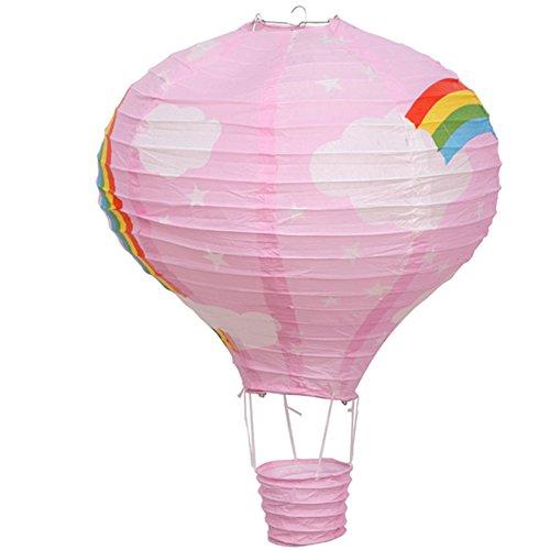 She's Shining Femmes Enfant Maison Chambre Décoration Rainbow Balloon Abat-Jour Lanterne De Papier Rose