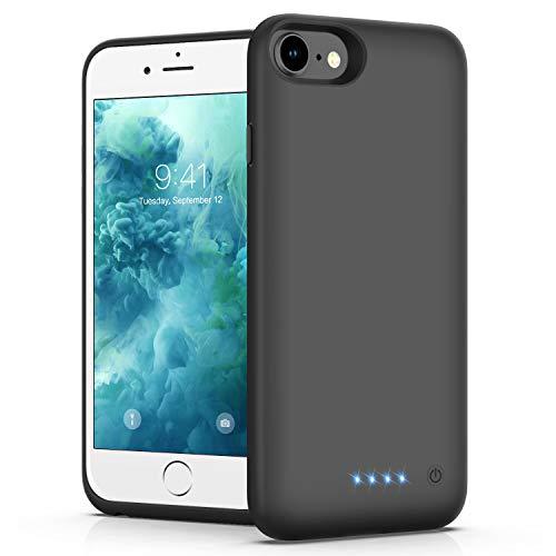 VOOE Funda Batería para iPhone 7/8/6/6s/SE 2020, 6000mAh Funda Cargador Portatil Carga Rapida Batería Externa Recargable Carcasa Batería [4.7 Inch]