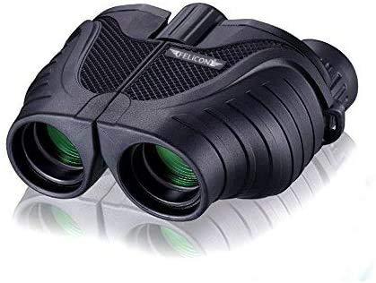 FELiCON prismáticos 10 x 25 BAK4 de Moda portátil Zoom HD Azul visión Nocturna prismáticos telescopio para Adultos y niños Sky Star Gazing Ver diseño de pájaros y Viajar Turismo Escalada