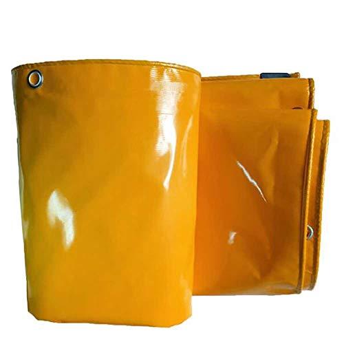 Bâches, Robustes avec Oeillets,Toile De Protection en PVC Anti-déchirure De Protection, Jaune - 620g / (Taille : 3×6m)