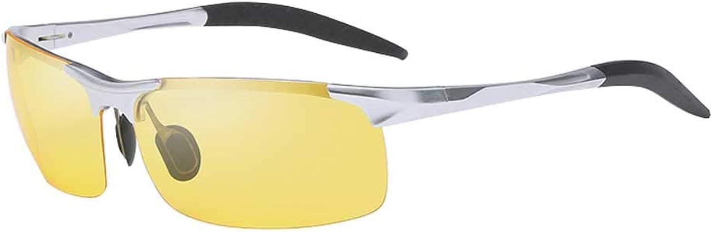 Men's AluminumMagnesium Night Vision Polarized Driving Mirror, AntiGlare Fishing Glasses