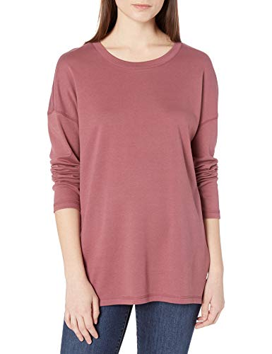 Amazon Brand - Goodthreads Women's Cotton Interlock Side Slit Tunic, Dark Rose, Large