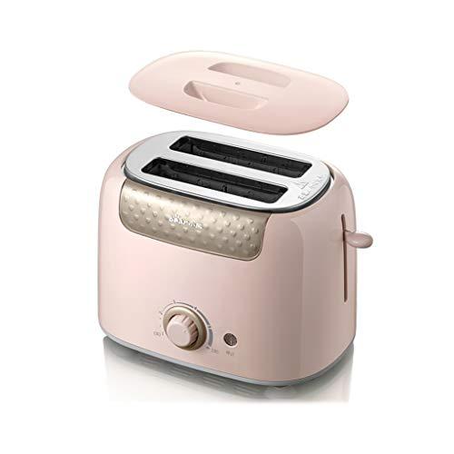 ZJH Tostadora Máquina de Pan automática, Segura y Estable, fácil de Usar, Home máquina de Pan for la Cocina Cocineros Profesionales Pan tostadora Tetera para el Desayuno (Color : Pink)