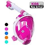 WSTOO Máscara de Snorkel,Máscara de Buceo Plegable 180 Vista panorámica,para Adultos y niños (Estilo Niños - Rosa, XS)
